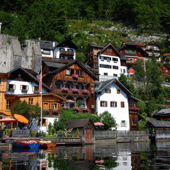 UNESCO World heritage site Hallstatt, Upper Austria, Historic small towns in Austria