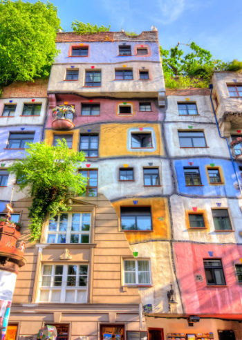 Private guided tours take you to the Hundertwasserhaus in Vienna, Austria
