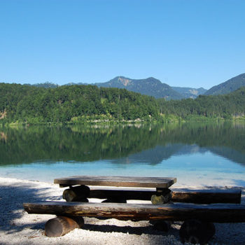 Almsee, Almtal, Salzkammergut, Upper Austria, Austria