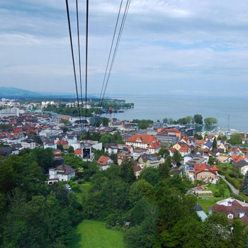 Seaside fun in the Alps, Bregenz, Vorarlberg, Austria