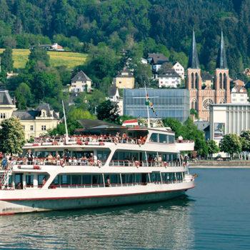 Boat trip on Lake Constance, Bregenz, Vorarlberg, Austria