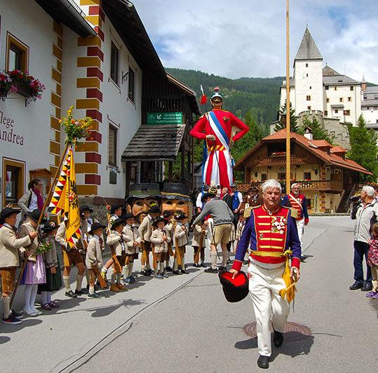 Samson parade in Mauterndorf, Salzburgerland, Austria