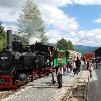 Taurachbahn museum railway, Mauterndorf, Austria