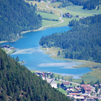 lakeside highlights, Pillerseetal, Tyrol, Austria