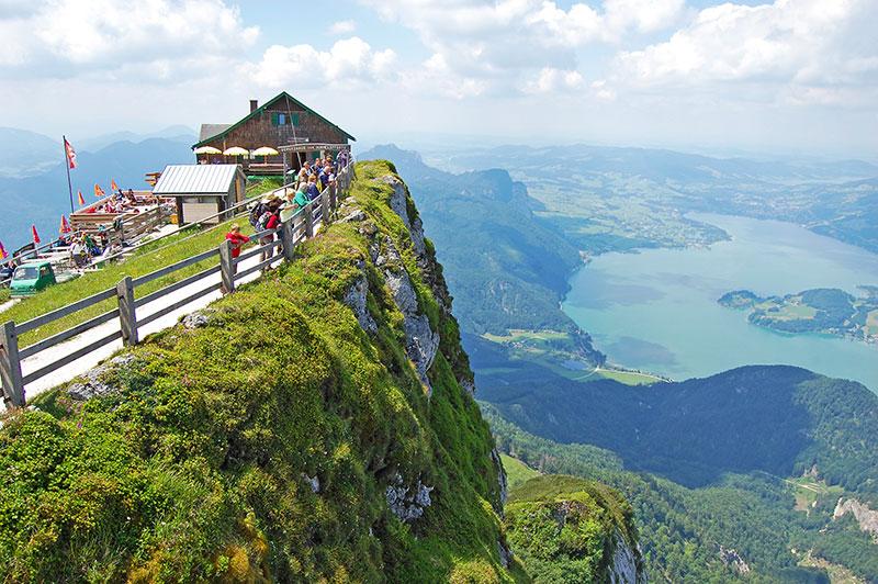 Fantastic viewpoints in Austria, Schafberg, SalzburgerLand