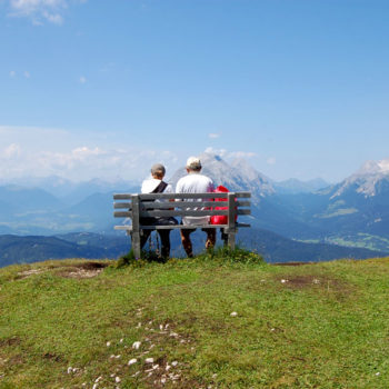 Two people enjoying the view above Seefeld, Tyrol, Hiker's HeavenAustria