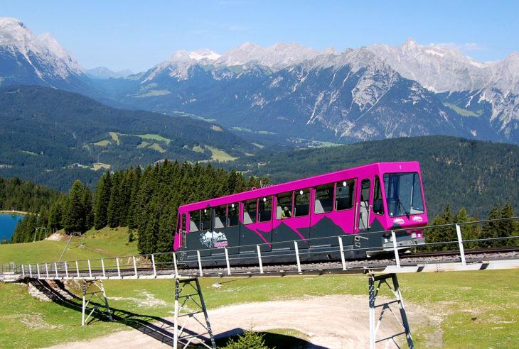 Rosshütte funicular railway, Seefeld, Tyrol, Austria