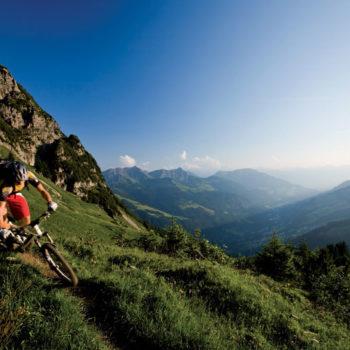 Mountain biking, Vorarlberg, Austria