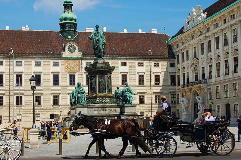 Fiaker at Hofburg in Vienna, Austria