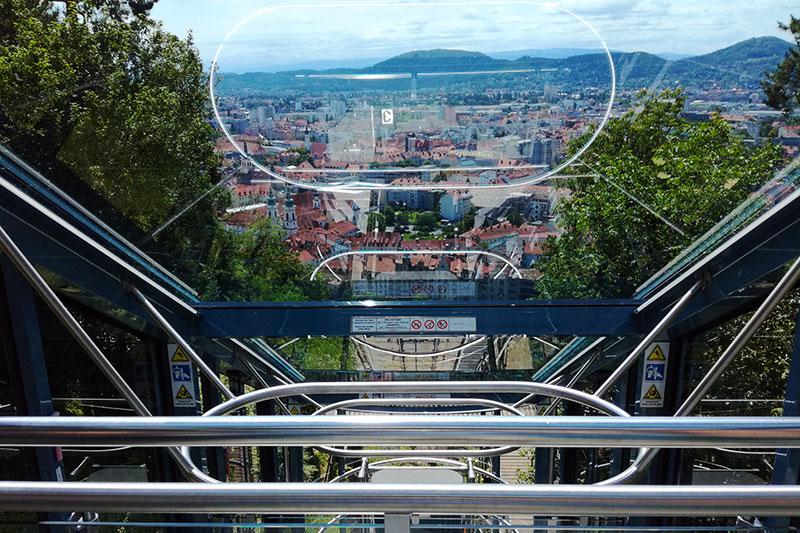 Schlossbergbahn funicular railway, Graz, Styria, Austria