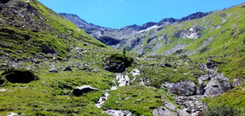 Hiking to the source of the river Mur, Salzburgerland, Austria