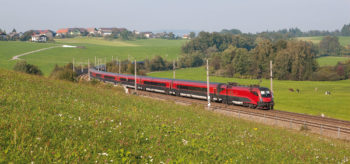 Traveling by train in Austria