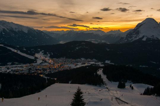Sunset over Seefeld, Tyrol, Austria