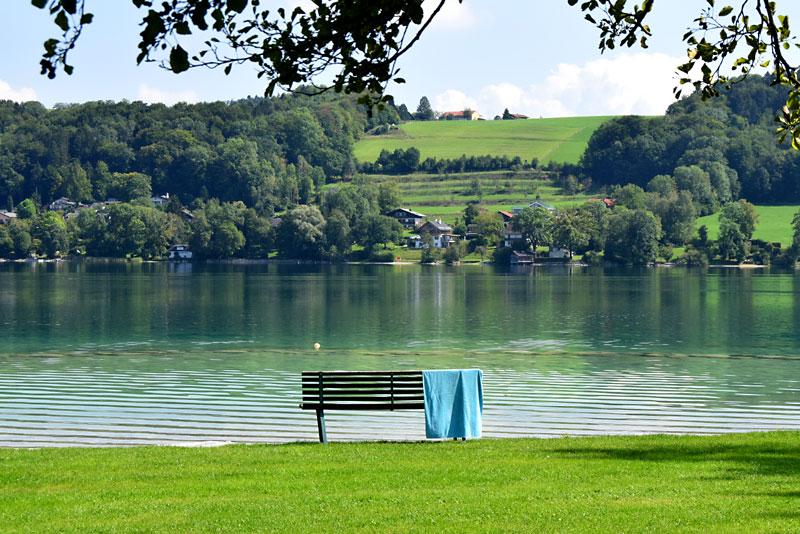 Beach holiday at Mattsee, Salzburg Lake District, Salzburgerland, Austria