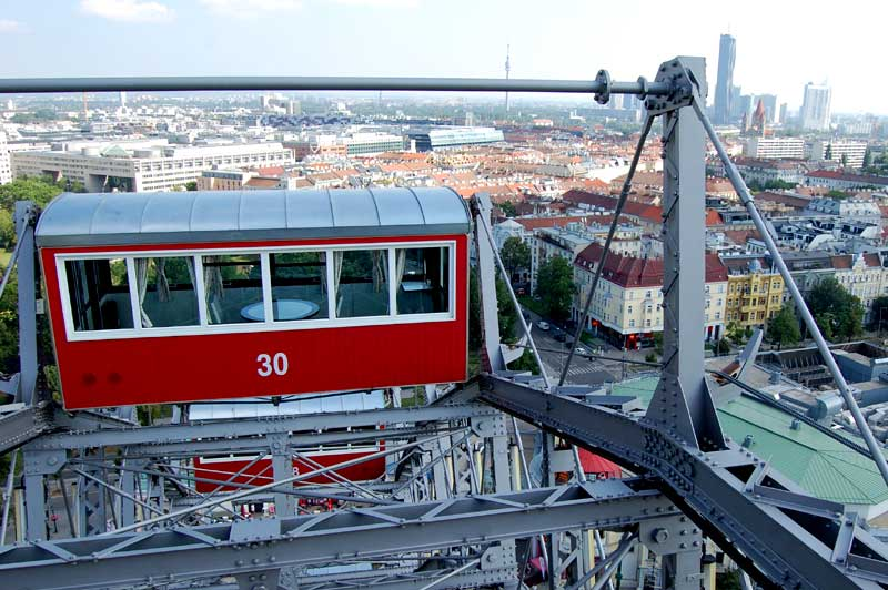 Wiener Riesenrad, ferris wheel, The best viewing points in Vienna, Austria