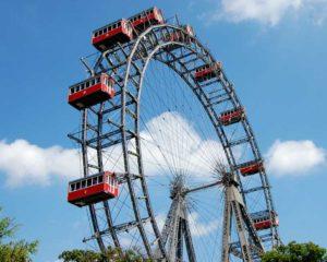 Giant Giant Ferris Wheel (Wiener Riesenrad) in Prater, Vienna