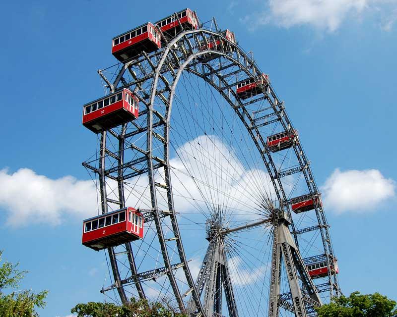 Wiener Riesenrad, ferris wheel, The best viewing points in Vienna, Austria