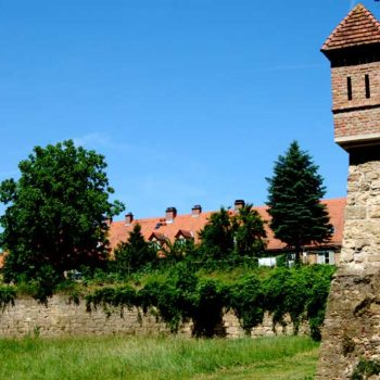 Fortification walls around Bad Radkersburg, Styria, Austria