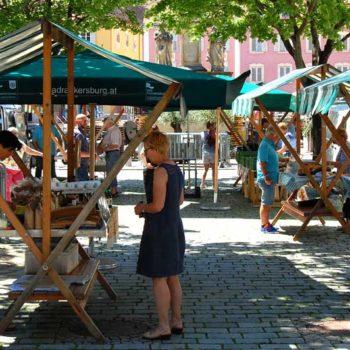 Market day in Bad Radkersburg, Styria, Austria