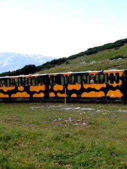 The salamander train arriving on Schneeberg, Austria