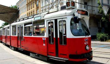 Streetcar sightseeing in Vienna, Austria