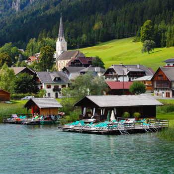 Boat trips on Weissensee, Carinthia, Austria