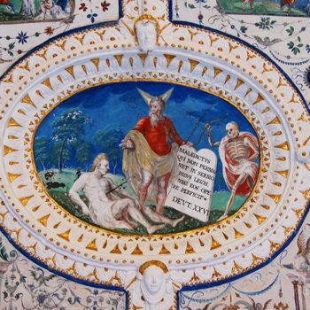 Frescos in Burg Strechau, Styria, Austria
