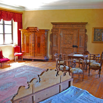 The imperial room in Burg Strechau, Styria, Austria