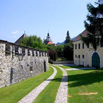 Ramparts of Burg Strechau, Styria, Austria