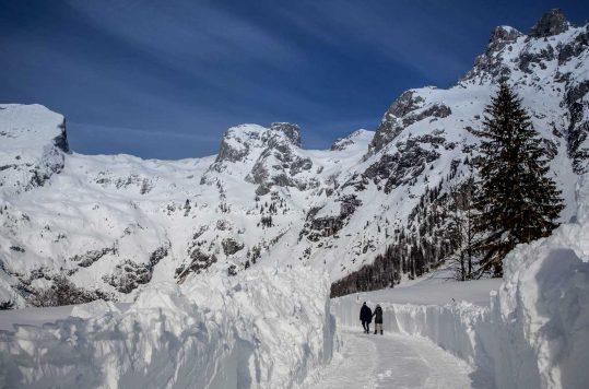 Winter hiking in Austria