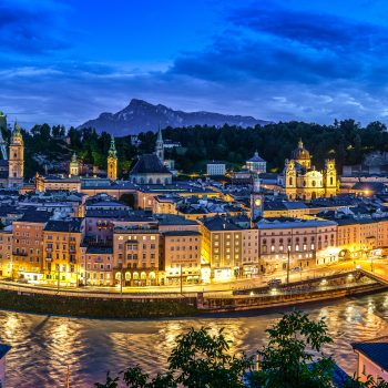 Salzburg by night, Austria