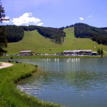 Teichalm lake at Almenland, Styria, Austria