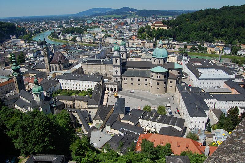 Festungsbahn funicular railway, Salzburg, Austria