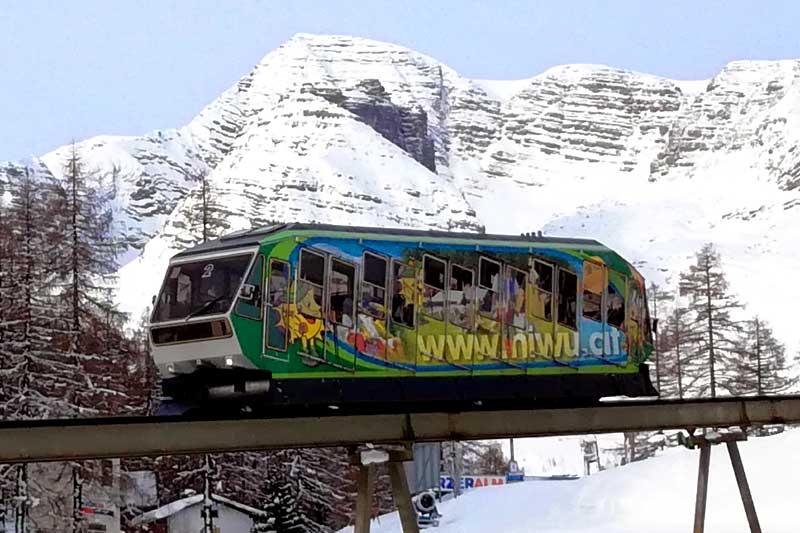 Wurzeralmbahn funicular railway, Spital am Pyhrn, Upper Austria
