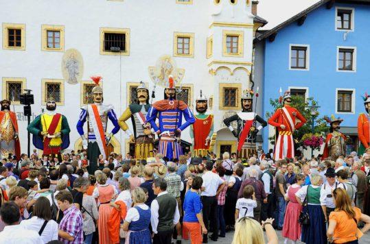 Samson parade - traditional festivals in Austria