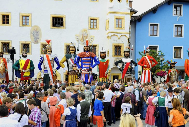Samson parade - traditional festivals in Austria