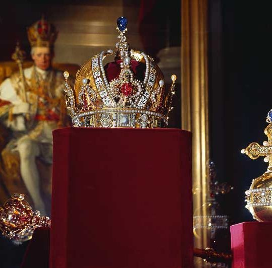 Rudolf's Crown at the Imperial Treasury in Vienna, Austria