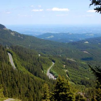 An amazing view to the east at Weinebene - Styria and Carinthia in Austria