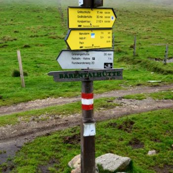 A post with trails signs