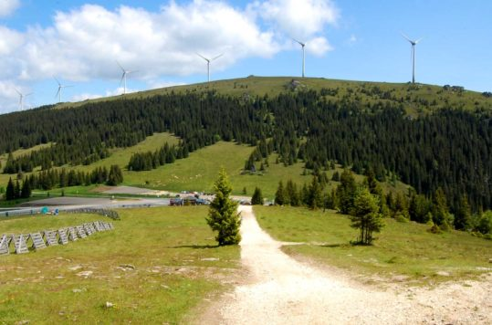 Weinebene on the border between Carinthia and Styria in Austria