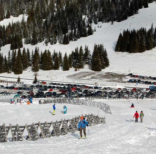 Weinebene ski resort in winter