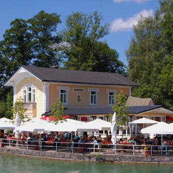 Seaside restaurant at Lake Mondsee, Upper Austria